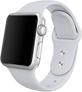Compatible Apple Watch Band 38mm 40mm, Vitech Fog Soft Silicone Sport iWatch Replacement Starp Band Series 4 (40mm) Series 3 2 1 (38mm) Sport Edition(3 Pieces Included 2 Lengths