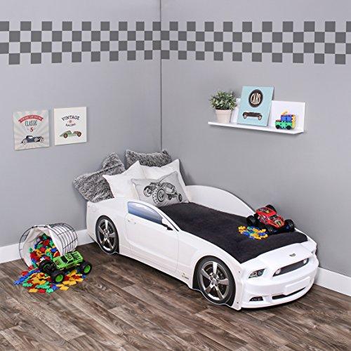 KAGU Autobett Kinderbett Jungendbett Juniorbett im Design eines echten Autos auch mit LED-Beleuchtung erhältlich. Praktisches und bequemes Bett für Ihr Kind.