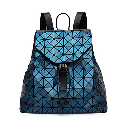 QXbecky Mochila Mate cepillada, Bolso Femenino Diamond Rubik'S Cube, Mochila de Viaje variada Japonesa 35x32x14cm
