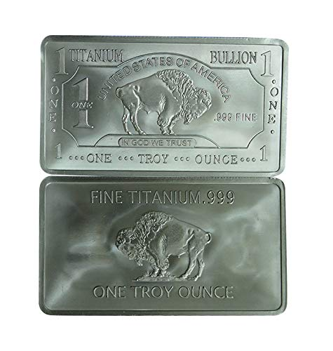 1 Oz 1 Unze USA Amerikanischer Büffel .999 Rein Titanbarren Ti Titanium Titan Barren (Translated from English)