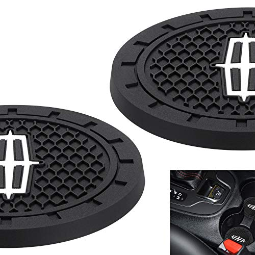 """AOOOOP Car Interior Accessories for Lincoln Cup Holder Insert Coaster - Silicone Anti Slip Cup Mat for Lincoln MKC Nautilus Aviator Navigator MKZ Continental (Set of 2, 2.75"""" Diameter)"""