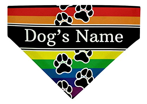 Personalized Gifts Rainbow Pride Dog Bandana