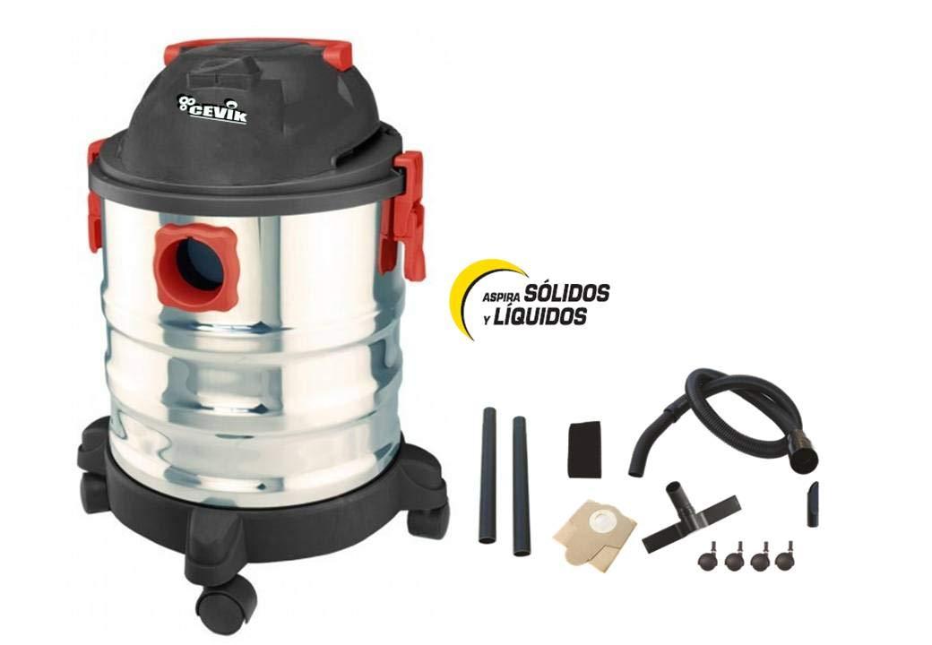Cevik CE-AS22X Aspirador Sólidos y Líquidos: Amazon.es: Bricolaje y herramientas