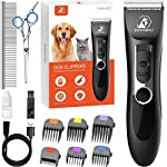 SAFE & SHARP PRECISION BLADES: Pet clippers adopt Titanium acute-angle blade and ceramic moving blade which can provide excellent cutting performance, more smooth and efficient; Dog clippers with R-type design, safer for your puppy and you; Detachabl...