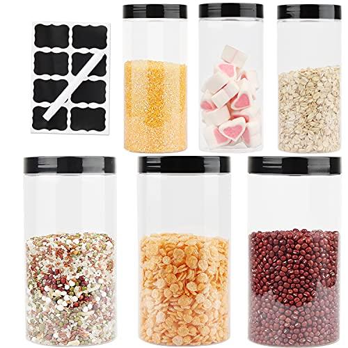 Xingsky Barattolo di plastica Trasparente, barattolini plastica per Alimenti, Barattolo plastica marmellata, contenitori Biscotti e Frutta secca, contenitori Sale Zucchero caffè (4.5L)