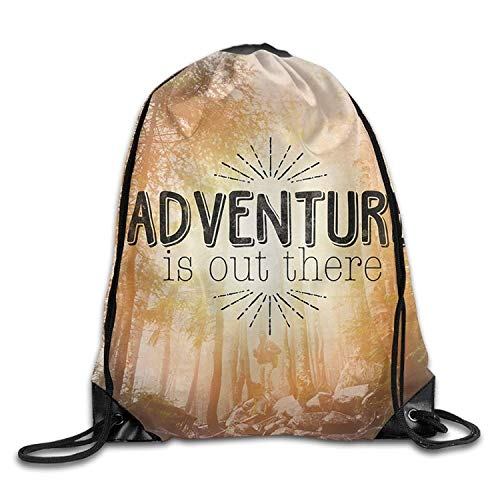 Drempad Bolsos De Gimnasio,Mochilas, Drawstring Bag Adventure is out There Unisex Gym Drawstring Shoulder Bag Backpack String Bags