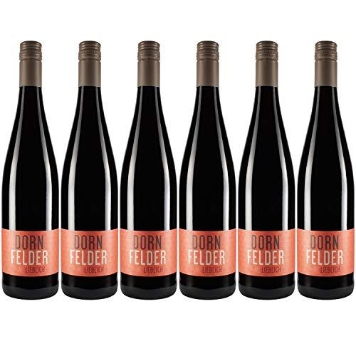 """Nehrbaß - """"Dornfelder 2017"""" - Rotwein lieblich 6 x á 0,75 Liter - Qualitätswein - Vegan - Aus Deutschland (Rheinhessen) - mit Schraubverschluss"""