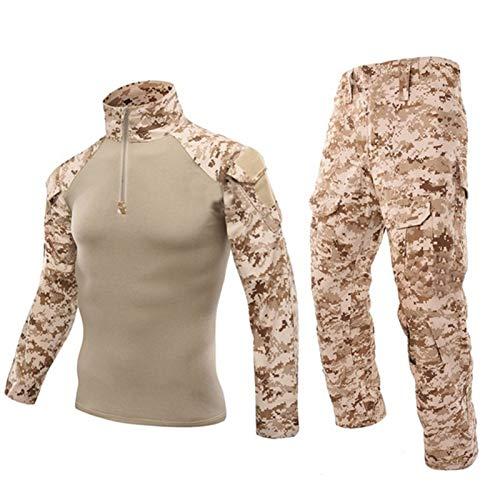 YZRDY Uniforme del ejército táctico Militar de Camuflaje Traje de Combate Camisa Pantalones Soldado de Airsoft Equipo Militar Camisa del Juego Combat (Color : DD, Size : 3XL.)