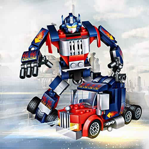 joylink Roboter Spielzeug, 2 in 1 lustiges kreatives Set Pädagogisches Spielzeug-Set der Roboter-Auto-Bausteine, Bestes Spielzeug Geschenk für Kinder 4-14 Jahre alt