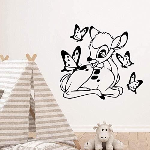 Schöne Deer Art Vinyl Wandaufkleber Home Decoration Abnehmbare Tapete Art Decal Kinderzimmer Dekoration Wandaufkleber 57 * 63Cm