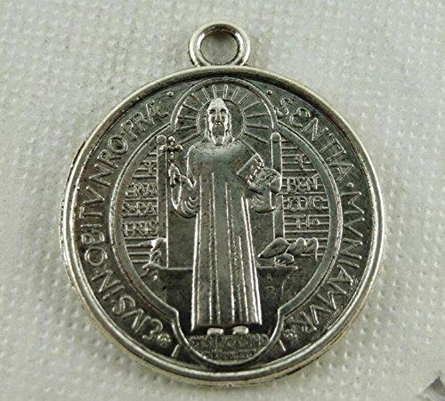 Jinzhicheng ca. 20pz Cross medaglia San Benito medaglia (argento antico)