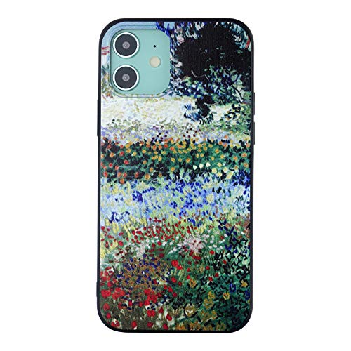 RVIXE Case for iPhone 12 / Case for iPhone 12 Pro (6.1 inch) Vincent Van Gogh Paintings Pattern Print TPU Gel Anti-Scratch Basic Cases - Flowering Garden with Path
