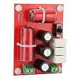 WAQU Filtros de Cruce de Audio-Divisor de frecuencia de Graves Filtro de Cruce de Altavoz de Audio de 3 vías para Suministros de Altavoces de 4 a 8 Pulgadas