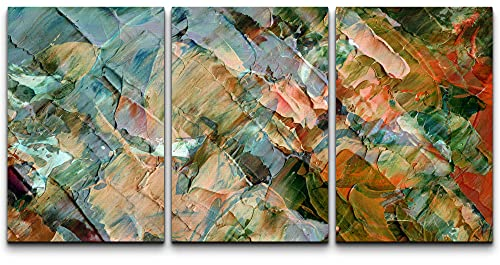 wall26 - 3 Piece Canvas Wall Art - Picture, Oil Paints: Abstract Background, Hand Paintings - Modern Home Art Stretched and Framed Ready to Hang - 24'x36'x3 Panels
