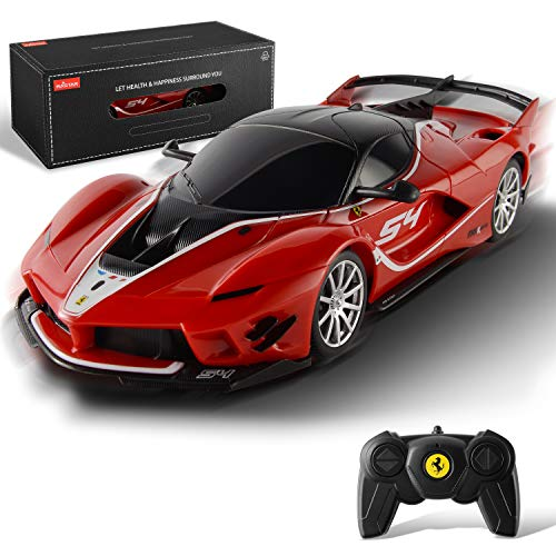 BEZGAR X RASTAR Licensed RC Series, 1:24 Scale Remote Control Car Ferrari FXX K EVO Electric Sport Racing Hobby Toy Car Model Vehicle for Boys and Girls Teens and Adults Gift (Red)