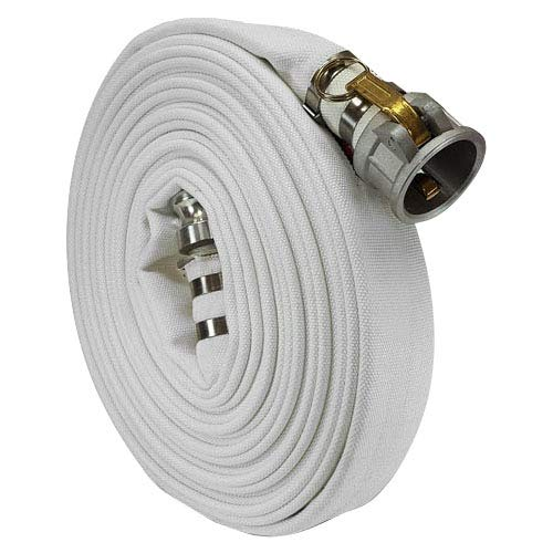White 2' x 100' Single Jacket Camlock (Cam and Groove) Mill Discharge Hose
