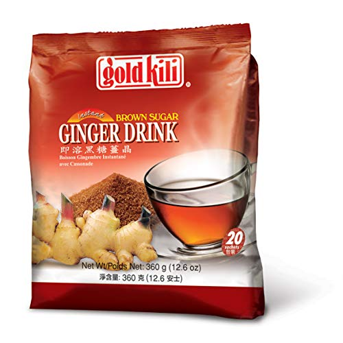 Gold Kili Ginger Drink with Brown Sugar - 40 Sachets Packed in 2 Bags by Gold Kili