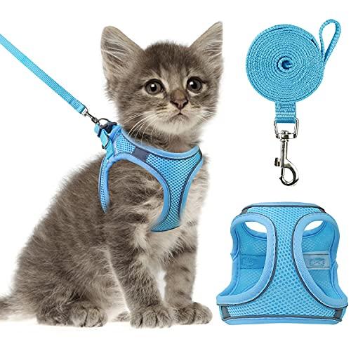 외래보행용 고양이 하네스 및 리쉬 반사 메쉬캣 베스트 - 컴포트 피트 경량 손쉬운 제어