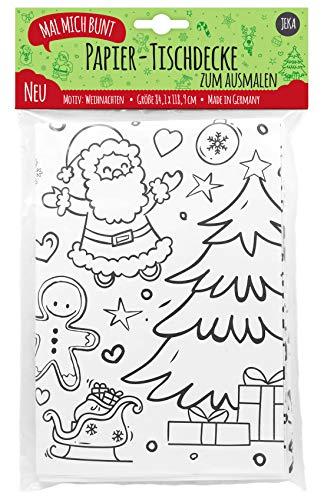 Papier-Tischdecke zum Ausmalen Weihnachten, Tischdecke Weihnachten, Deko Weihnachten, Weihnachten Tischdecke