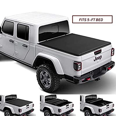 Kikito Professional Soft Tri-Fold Truck Bed Tonneau Cover for 2020-2021 Gladiator JT 5ft (60.3in) Bed