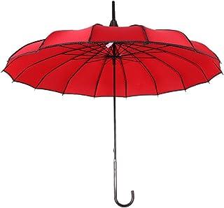 Parapluie Anti-UV Rouge pagode Alftek Parapluie de Pluie pour vin