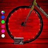 Activ Life アクティブライフ 自転車用 タイヤ ライト (ホイール 2本分 レッド) 人気 LED 誕生日 プレゼント と クリスマス プレゼント - 人気 ブラックフライデー サイバーマンデー スペシャル セール 彼 彼女 用 男性 女性 キッズ と 楽しい ティーン 車輪2本分 レッド