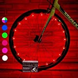 Activ Life Bicycle Tire Lights (2 Wheels, Red) Hot LED Bday Gift Ideas & Presents for Chri...