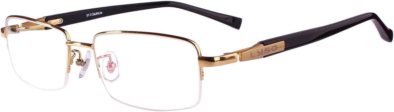 Agstum Titanium Half Rim Glasses Frame Prescription 5518145 (gold)