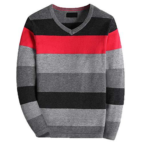 basadina Boys Striped V-neck Long Sleeve Pullover Warm Knitwear Christmas...