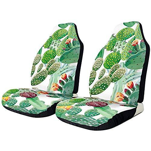 1 ST Cartoon u-nicorn met koptelefoon Front Bucket Cars Seat Protector Covers Fit Meest Voertuig, Auto's, Sedan, Vrachtwagen, SUV