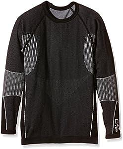 CMP , Camiseta interior para niño, Unisex adulto, Wäsche Thermounterwäsche, negro (negro)