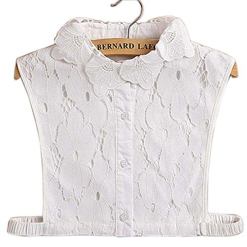 Black Temptation Einfache stilvolle abnehmbare Kragen Fake Shirt Kragen Allzweck Zubehör für Frauen, H