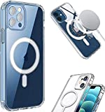TTCPUYSA Clear Magnetic Cover Case Mag Safe for Apple iPhone 12 PRO Max 12 Mini 12 PRO (for iPhone 12 Mini)