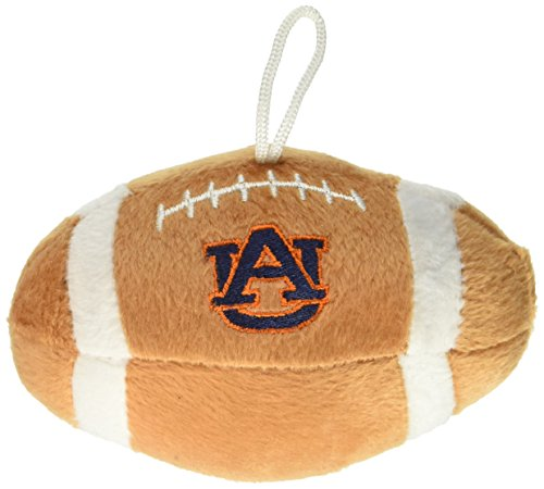Sporty K9 NCAA Auburn Tigers Plush Football Pet Toy, 5-inch Long with Inner Squeaker