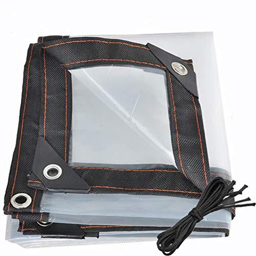 QI-CHE-YI Heavy-duty waterproof transparent tarpaulin with grommet waterproof tarpaulin, multi-purpose poly tarpaulin use,3x6m
