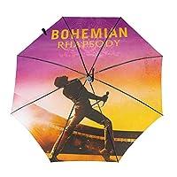 Queen Band ボヘミアンラプソディ 傘 折りたたみ傘 ワンタッチ 自動開閉 8本傘骨 防風雨傘 軽量 防水トラベル傘 台風対応 梅雨対策 折り畳み傘 超撥水 おりたたみ傘 晴雨兼用 メンズ レディース