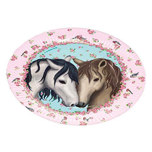 Neu 2019: 8 Party-Teller * Tapirella Pferde * für Kindergeburtstag und Motto-Party | 11362 | Pferde Pony Reiten Kinder Geburtstag Pappteller Motto Mädchen