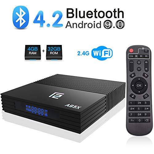 Android 9.0 TV Box, A95X F2 Android Box 4GB RAM 32GB ROM Amlogic S905X2 Quad-core BT 4.2 WiFi 2.4G Support 4K 3D USB 3.0 HDMI Smart TV Box
