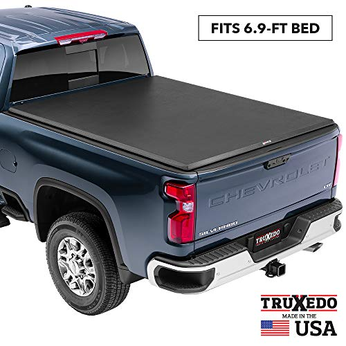 "TruXedo TruXport Soft Roll Up Truck Bed Tonneau Cover | 273301 | fits 2019-20 GMC Sierra & Chevrolet Silverado New Body Style 2500HD & 3500HD  6'7"" bed"