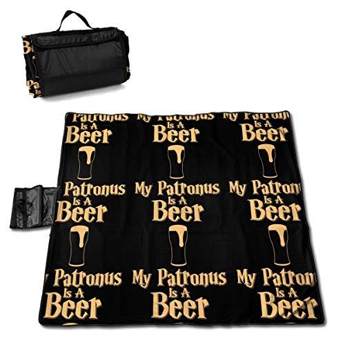 GuyIvan Mein Patronus ist eine Bier-Outdoor-Picknickmatte Decke Sanddichte Strandmatte 145X150cm