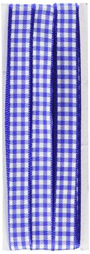 Prym Gingham Überprüfen Decor Band-Mischgewebe, Polyester, Royal Blau/Weiß, 10mm, 4m