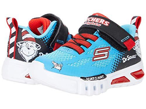 Skechers Flex-Glow-Lighted Things, Zapatillas, Azul (BLBK Blue & Black Synthetic/Red & White Trim), 26 EU