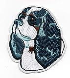 Patch Cocker Spaniel Puppy Bulldog Basset Blue Grey Ear Husky Bulldog Pit Bull Shepherd Boston Terrier Golden English Denim Pant Shirt Jean Jacket Decal Applique Embroided Iron Sew On Bestdealhere