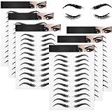 6 Blätter 4D Haarähnliche Wasserdichte Augenbrauen Tätowierungen Aufkleber Augenbrauen Transfer...
