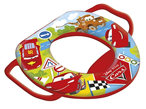 Lulabi Disney Cars Baby Riduttore WC Morbido con Maniglie, Rosso