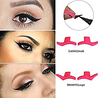 2 Pairs Silicone Winged Eyeliner Stamp, Lazy Eye Shadow Applicator Silicon wing eyeliner Eyeshadow Stamp Crease
