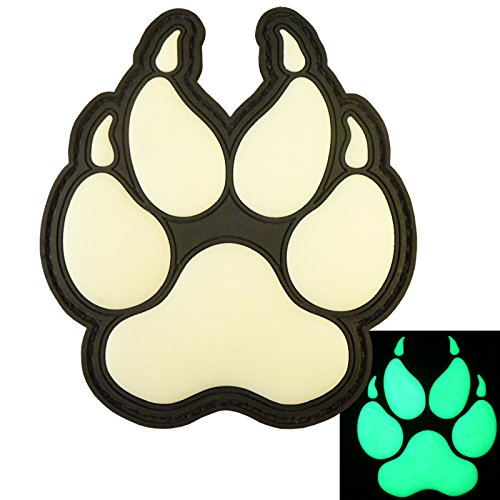 LEGEEON Glow Dark ACU K-9 Paw K9 Handler Dogs of War Morale Army Gear PVC Touch Fastener Patch