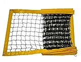 RomiSport Red de voleibol playa 8,5 m o 9,5 m, tres colores, productor, amarillo, 8,5 m