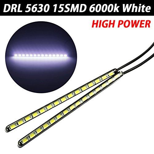TABEN 2X LED DRL 15SMD 5630 Voiture Auto Haute Puissance DRL Feu Diurne Imperméable Xenon Blanc