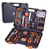 Tool Set, 102PCS Hand Tool Kit Combination Package Mixed with Socket, Hammer, Wrenches